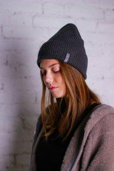 Женская шапка Leks Бини Графитовый (5210)