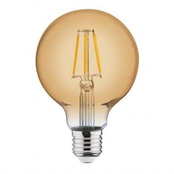 Лампа вінтажна світлодіодна ретро (RUSTIC GLOBE-4) 4W Filament led 2200К E27 Horoz Electric