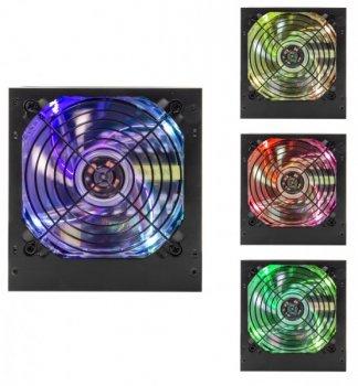 Блок живлення для ПК LogicPower ATX-600W, 12см LED Fan, 2хIDE, 3хЅАТА, 8Pin(4+4), 8Pin(6+2), 24Pin, OEM (LP10721)