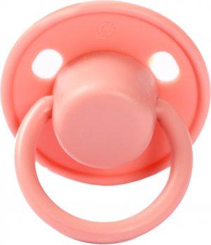 Пустушка латексна Lindo Pk 076 Малютка кругла від 0 місяців Рожева (8850216000767)