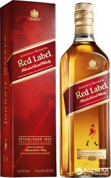 Виски Johnnie Walker Red label выдержка 4 года 0.7 л 40% в подарочной упаковке (5000267014234)