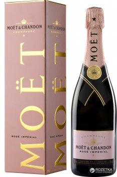 Шампанське Moet & Chandon Rose Imperial рожеве брют 0.75 л 12% в подарунковій упаковці (3185370061503)