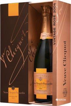 Шампанське Veuve Clicquot Ponsandin Vintage Rose 2008 рожеве брют 0.75 л 12% в подарунковій упаковці (3049614089749)