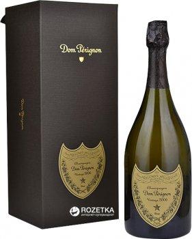 Шампанське Dom Perignon Vintage Blanc біле брют 0.75 л 12.5% в подарунковій упаковці (3185370566916)