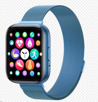 Смарт годинник з тонометром і пульсометром T99 сині фітнес браслет