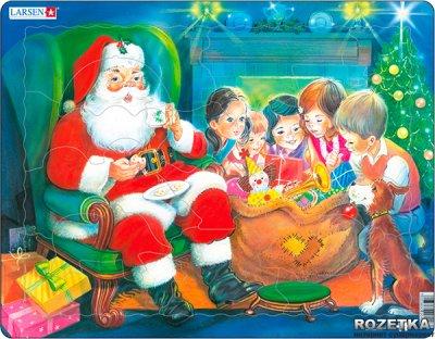 Пазл Larsen із серії Максі Дід Мороз з дітьми (JUL14)