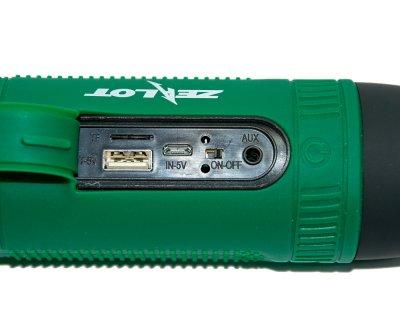 Велосипедна Bluetooth колонка - Zealot S1 Зелена - портативна бездротова з блютузом (1007813-Green-1)