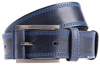 Мужской ремень кожаный Sergio Torri 1-038 125 см Темно-синий (2000000001845)