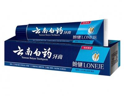 Зубная паста с системой бережного отбеливания зубов Lang Jian+ White 86% Toothpaste, для курящих, 180гр Voltronic