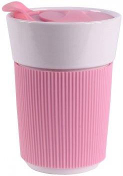 Чашка с силиконовой крышкой Limited Edition Travel 350 мл (HTK-038)