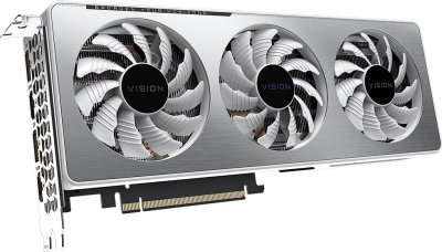 Gigabyte PCI-Ex GeForce RTX 3060 Ti Vision OC 8 GB GDDR6 (256 bit) (1755/14000) (2 х HDMI, 2 x DisplayPort) (GV-N306TVISION OC-8GD)