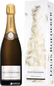 Шампанское Louis Roederer Demi Sec Carte Blanche белое полусухое 0.75 л 12% (3114080011058_3114080111055)