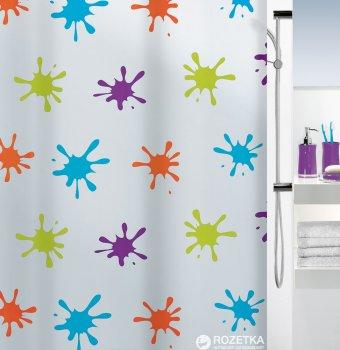 Шторка для ванної Spirella Splash 180x200 Peva Різнокольорова (10.16133)