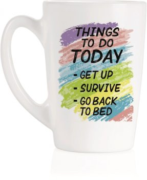Чашка Luminarc New Morning Things To Do 320 мл (Q3831)