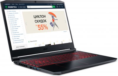 Ноутбук Acer Nitro 5 AN515-44-R405 (NH.Q9HEU.017) Obsidian Black
