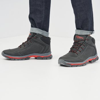 Ботинки Fabiani B10-24-22 Черно-красные