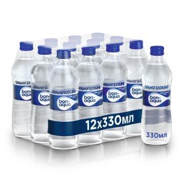 Упаковка минеральной газированной воды BonAqua 0.33 л х 12 бутылок (50112326)