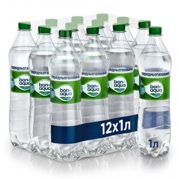 Упаковка минеральной среднегазированной воды BonAqua 1 л х 12 бутылок (5449000003041)