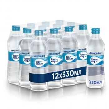 Упаковка минеральной негазированной воды BonAqua0.33 л х 12 бутылок (90382758)