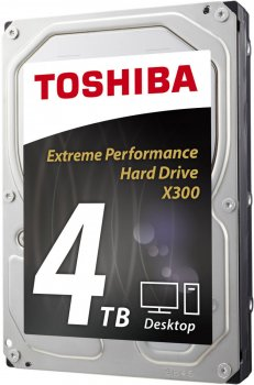 "Жорсткий диск Toshiba High-Performance X300 4TB 7200rpm 128MB HDWE140UZSVA 3.5"" SATA III"