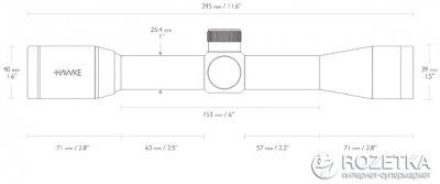Оптичний приціл Hawke Vantage 4x32 Mil Dot (922117)