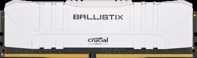 Оперативна пам'ять Crucial DDR4-3000 8192 MB PC4-24000 Ballistix White (BL8G30C15U4W)