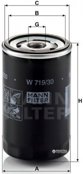 Фильтр масляный MANN W 719/30 - W 719/25