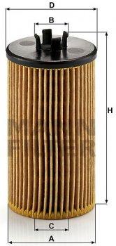 Фильтрующий элемент масляного фильтра MANN HU 612/2x