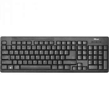 Комплект бездротової (клавіатура, миша) Trust Ziva UKR (22119) Black USB