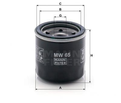 Фильтр масляный MANN MW 65