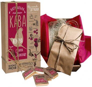 Подарочный набор Shokopack For Beautiful Woman 100 г кофе + 5 шоколадных комплиментов (4820194870595)