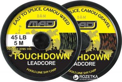 Шнур DAM MAD Touchdown LeadCore 5 м 20 кг Зеленый (3785145)