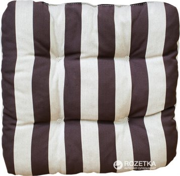 Подушка для стула Dajar Ellen 14003Х04 40x40 см Коричневая в полоску (5904134994578)
