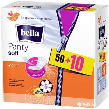 Ежедневные гигиенические прокладки Bella Panty Soft Deo Fresh 50+10 шт (5900516312015)