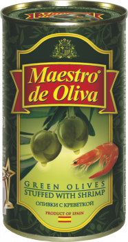 Оливки зеленые с креветкой Maestro de Oliva 350 г (8436024290271)