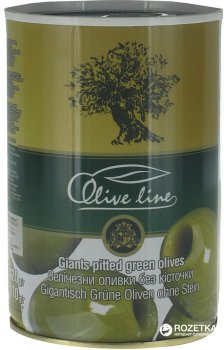 Оливки величезні без кісточки Olive Line 420 г (8436024294439)