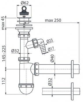 Сифон для раковины ALCA PLAST A42P