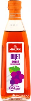 Уксус Akura спиртовой винный 6% 330 мл (4820178460361)