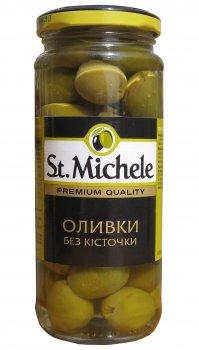 Оливки зеленые без косточки St. Michele Гордал 358 мл (8410193027043_8411578503855)