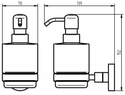 Дозатор для рідкого мила HACEKA Kosmos (402316)