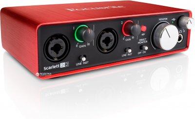 Аудіоінтерфейс Focusrite Scarlett 2i2 2nd Gen (223890)