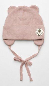 Демисезонная шапка с завязками Модный карапуз 03-01048-3 46-48 см Пудровая (4824664510486)