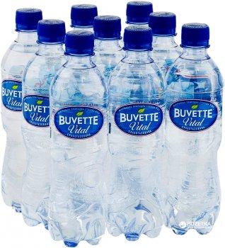 Упаковка минеральной слабогазированной воды Buvette Vital 0.5 л х 9 бутылок (4820115401266_4820115400382)