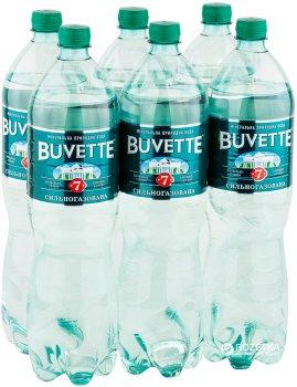 Упаковка упаковка минеральной сильногазированной воды Buvette №7 1.5 л х 12 бутылок (4820115400436)