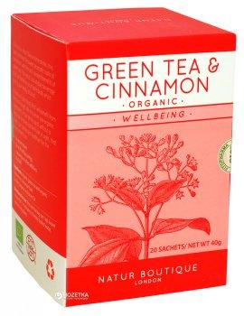 Зеленый чай с корицей органический пакетированный Natur Boutique 20 фильтр-пакетов (8934711008272)