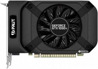 Palit PCI-Ex GeForce GTX 1050 Ti StormX 4GB GDDR5 (128bit) (1290/7000) (DVI, HDMI, DisplayPort) (NE5105T018G1-1070F)