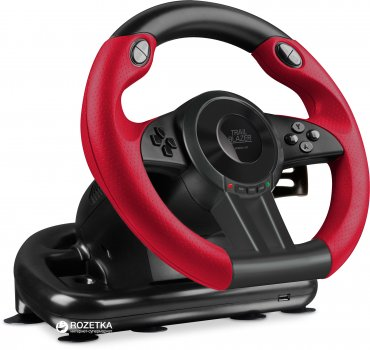 Дротове кермо SPEEDLINK Trailblazer Racing Wheel PC/Xbox One/PS3/PS4 Black/Red (SL-250500-BK)