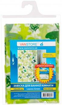 Фіранка для ванної Vanstore Leaves Green 61003 180х200