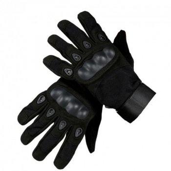 Тактичні воєнні рукавиці Oakley Вело/Мото/Спорт/Турист Black (М) 19-21см