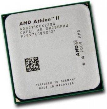 Б/У, Процесор, AMD Athlon II X2 215, ADX215ОСК, 2,7 GHz, 2 core, 2Mb, 65W, 4000MHz sAM2+, АМ3